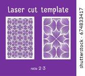 laser cut ornamental panels... | Shutterstock .eps vector #674833417