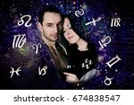astrological compatibility of... | Shutterstock . vector #674838547