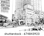 myeongdong street. seoul. the... | Shutterstock .eps vector #674843923