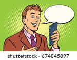 online communication is a... | Shutterstock . vector #674845897
