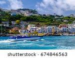 capri  italy  may 10  2017 ... | Shutterstock . vector #674846563