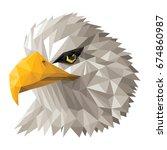 polygon eagle   Shutterstock .eps vector #674860987