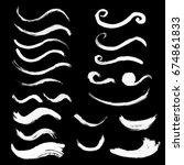 hand drawn curved brushstrokes... | Shutterstock .eps vector #674861833