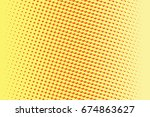 abstract yellow red gradient... | Shutterstock . vector #674863627
