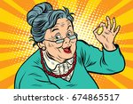 grandma okay gesture  the