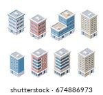 set of modern isometric... | Shutterstock .eps vector #674886973