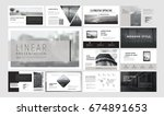 original presentation templates ... | Shutterstock .eps vector #674891653