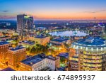 orlando  florida  usa aerial... | Shutterstock . vector #674895937
