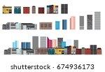 vector design building and city.... | Shutterstock .eps vector #674936173