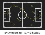 soccer game strategy. chalk... | Shutterstock .eps vector #674956087