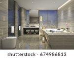 3d rendering modern classic... | Shutterstock . vector #674986813