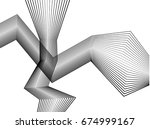 wave stripe optical abstract... | Shutterstock . vector #674999167