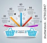 shop infographic. marceting... | Shutterstock .eps vector #675012847
