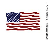 flag of the united states.... | Shutterstock . vector #675014677