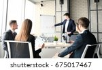 business conference... | Shutterstock . vector #675017467