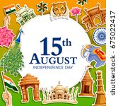 vector illustration of indian... | Shutterstock .eps vector #675022417