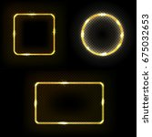 set of square  circle  frame... | Shutterstock .eps vector #675032653