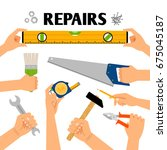 home repair vector illustration....   Shutterstock .eps vector #675045187
