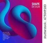 fluid color background. liquid...   Shutterstock .eps vector #675049183