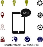 mobile phone sms icon  vector...