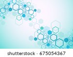 abstract medical background.... | Shutterstock .eps vector #675054367