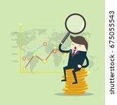 vector growth concept in flat... | Shutterstock .eps vector #675055543