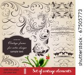 vector set  calligraphic... | Shutterstock .eps vector #67505773