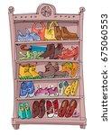 Shoe Rack Full Of Fashionable ...