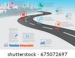 design template  city road map... | Shutterstock .eps vector #675072697