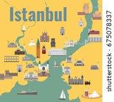 map of the historical center of ... | Shutterstock .eps vector #675078337