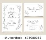wedding invitation card... | Shutterstock .eps vector #675080353