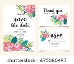 wedding invitation card... | Shutterstock .eps vector #675080497