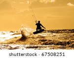 Surfing in the ocean - stock photo