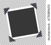 photo frame with angle  corner... | Shutterstock .eps vector #675089653