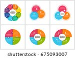 infographics template set | Shutterstock .eps vector #675093007