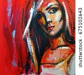 Acrylic Painting Portrait Of...