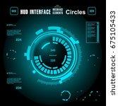 futuristic virtual graphic... | Shutterstock .eps vector #675105433