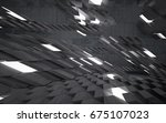 empty dark abstract concrete... | Shutterstock . vector #675107023