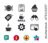 food and drink icons. muffin...