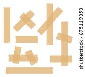 sticky glue scotch tape piece...   Shutterstock .eps vector #675119353