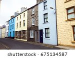 english residential street | Shutterstock . vector #675134587