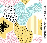 abstract pattern with various...   Shutterstock . vector #675138037