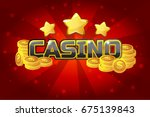 vector logo text casino and... | Shutterstock .eps vector #675139843