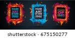 futuristic frame art design... | Shutterstock .eps vector #675150277