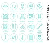 contraceptive methods line...   Shutterstock .eps vector #675151327