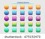 vector buttons set | Shutterstock .eps vector #675152473