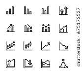 icon set of chart | Shutterstock .eps vector #675173527