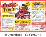 food truck festival menu... | Shutterstock . vector #675196747