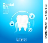 dental care and teeth on... | Shutterstock .eps vector #675200113