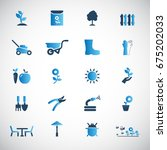 garden icon set | Shutterstock .eps vector #675202033